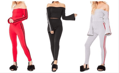 Amazon : Women's Casual Long Sleeve Off Shoulder Two Piece Sports Tracksuit Just $12.99 W/Code (Reg : $25.99) (As of 8/25/2019 8.16 PM CDT)