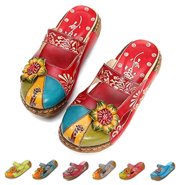 46106ecd6b6fe Deals Finders | Amazon : Women's Colorful Leather Slipper Just ...