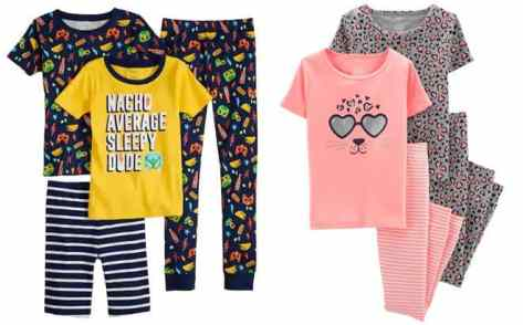 Carter's 4-Piece Pajama Sets ONLY $13.44 at Kohl's (Reg $42) at Kohls – Today Only!