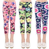 3-Pack Printing Flower Girl Leggings Kids Classic Pants 4-13Y with 80% off (Lightning Deal)