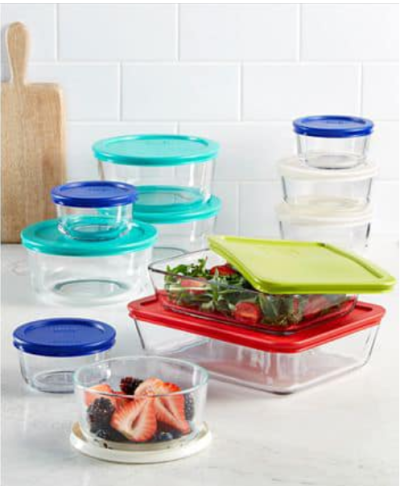 22 Piece Food Storage Container Set, Created for Macy's for $29.99 (reg: $89.99)