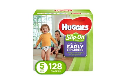 50% Off Coupon* 128 Count HUGGIES Little Movers Slip On Diaper Pants – Size 5 for $21.10 Shipped! (Reg. Price $42.20)