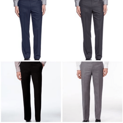 Slim-Fit Solid Dress Pants for $29.99 (reg: $95)