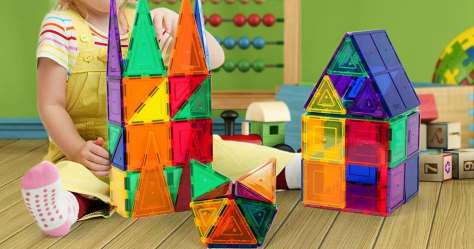 PicassoTiles Magnetic Building Blocks 61-Piece Set Only $23.99