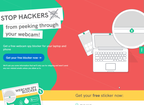 FREE Webcam Spy Blocker Sticker for Your Laptop and Phone