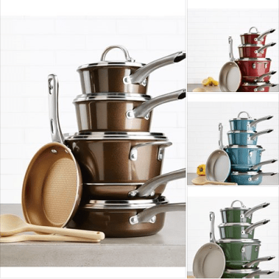 Macy's : 12-Pc. Porcelain Enamel Non-Stick Cookware Set Just $63.99 (Reg $199.99) wiTh code VIP and after $20 Rebate!