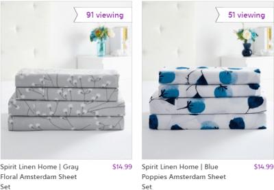 Zulily : 4-Piece Sheet Sets Just $14.99 !