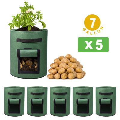 Amazon : 5 Pack 7 Gallon Potato Grow Bags Just $8.40 - $6.80 W/Code (Reg : $16.99) (As of 9/16/2019 10.57 AM CDT)