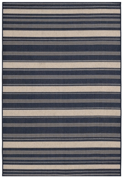 Mainstays 5'x7′ Navy Jenner Stripe Outdoor Area Rug for $29 (reg: $40)