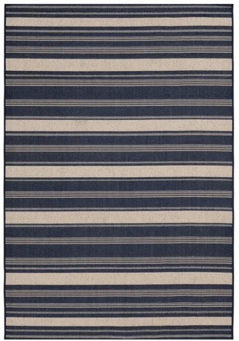 Mainstays 5'x7′ Navy Jenner Stripe Outdoor Area Rug for $29 (reg: $40)