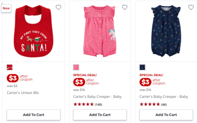 Jcpenney : Baby Department: Carters Just From $3 !!