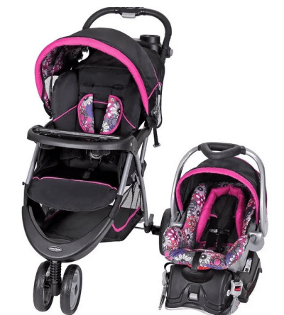 Baby Trend EZ Ride 5 Travel System, Floral Garden for $108.70 (Reg $159.00)