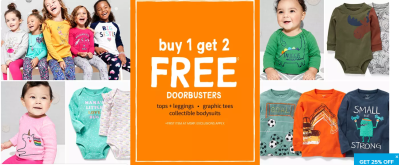 Carter's : Sale - 70% off 3-piece sets, Buy -1-Get-2 free leggings/tees, and 60% off jammies!!