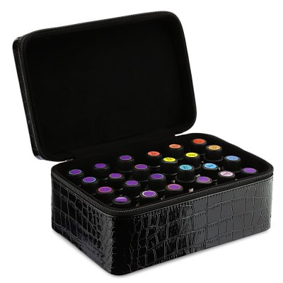 Amazon : Essential Oils Carrying Case for 42 Bottles 5ml-15ml Leather Exterior Holder Just $5.60 W/Code (Reg : $15.99) (As of 9/16/2019 1.55 AM CDT)
