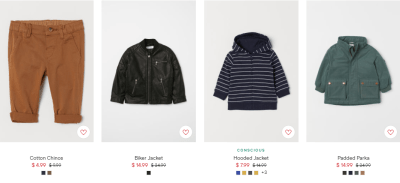 H& M : FALL SALE : UP TO 60% OFF STYLES STARTING AT $4.99!!
