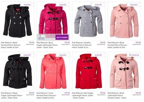 Hooded Fleece Jackets for $10.99 w/code