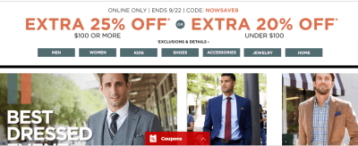 JCPenney : $10 Off a $25 Purchase Coupon (Ends 9/22)