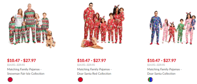 The Children's Place : Matching Christmas Pajamas for the Family 30% Off + FREE Shipping (From Just $10.47!)