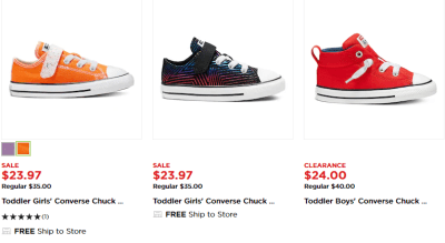 Kohl's : UP TO 50% OFF Converse Shoes !!