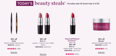 Ultra : 50% Off Beauty Steal !