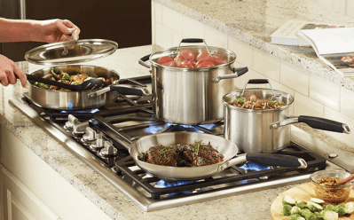 Home Depot : Calphalon 12-Piece Cookware Set Just $179 W/Code (Reg $275)