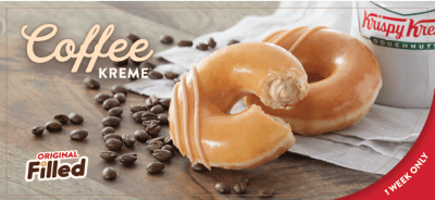 Krispy Kreme: FREE Doughnut & Coffee on September 29th (Save the Date)