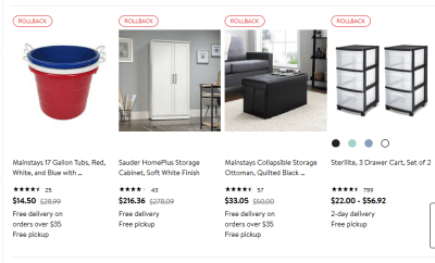 Walmart : Up to 50% Off on storage & organization items!