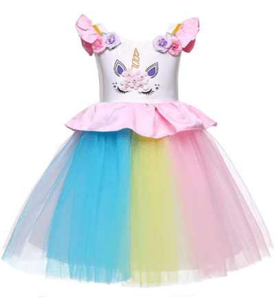 Girls Unicorn Costume Dress for just $10 (Lightning Deal)
