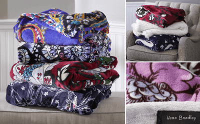 Vera Bradley : Throw Blankets Just $17 + FREE Shipping (Reg : $55)