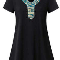 Women's Short Sleeve V Neck T-Shirt for $3.79 w/code & Coupon