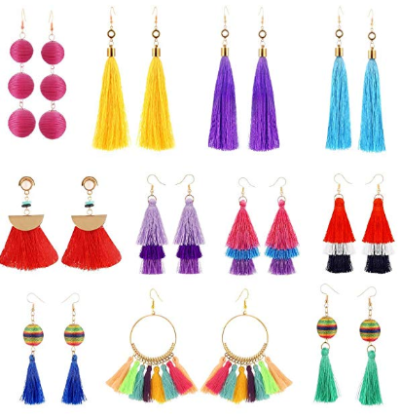 Amazon : 11 Pairs Colorful Long Layered Thread Ball Dangle Earrings Just $7.49 W/Code (Reg : $14.99) (As of 10/23/2019 9.13 AM CDT)
