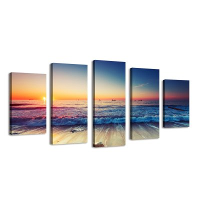 Amazon : 5 Panels Waves Seascape Canvas Painting Set Wall Art Just $16.49 W/Code (Reg : $32.99) (As of 10/23/2019 5.20 AM CDT)