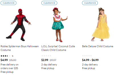 Walmart : All Children's Halloween Costumes From $5.99!