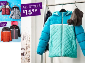 Zulily : Bundled in a Puffer Coat: Baby & Up $15.99!!