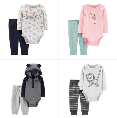 Carter's 2 piece sets for $7.04 at JCPenny