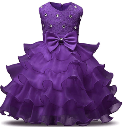 Amazon : Girl Kids Ruffles Lace Dress Just $16.14 W/Lightening Deal (Reg : $18.99) (As of 10/17/2019 1.55 PM CDT)