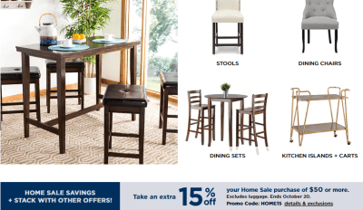Kohl's : HOME/FURNITURE DEALS W/Code!