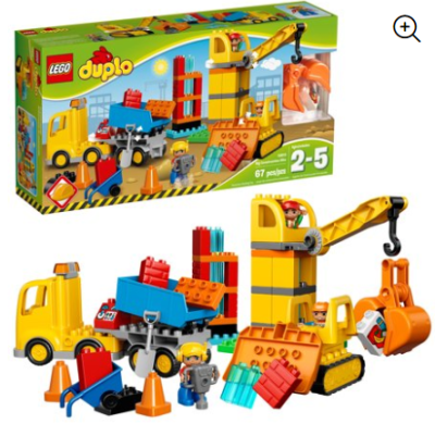 Walmart : 67 Pieces LEGO DUPLO Town Big Construction Site Just $29.99 (Reg $49.99)