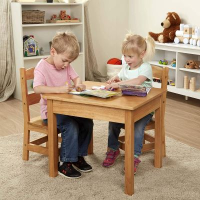 Amazon : Melissa & Doug Solid Wood Table & Chairs Just $129.99 W/Lightening Deal (Reg : $85.99) (As of 10/23/2019 10.50 AM CDT)
