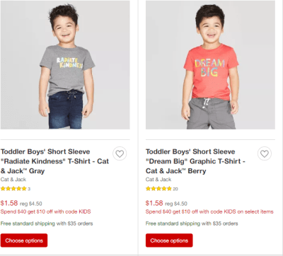 Target : Cat & Jack Toddler Apparel From Just $1.20 (Reg : $4.50) – Stock Up!