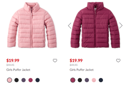 The Children's Place : Puffer Jacket Just $19.99!
