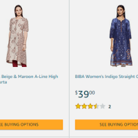 Amazon : Indian Kirtas starts from $10.13 (Reg : $25.99) (As of 10/20/2019 9.56 AM CDT)