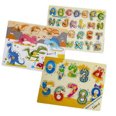 Amazon : Wooden Baby Peg Puzzle Set - 3 Sets Just $16.99 W/ Lightening Deal (Reg : $19.99) (As of 10/13/2019 10.40 AM CDT)
