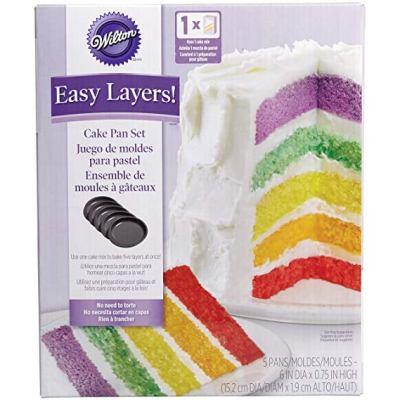 Wilton Cake Easy Layers! 6 Inch (Set of 5) for $8.23 (REG $21.04)