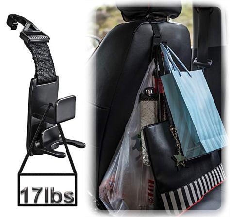Magic Headrest Hooks for Car, Purse Hanger Headrest Hook Holder for Car Seat Organizer for $6.99 w/code