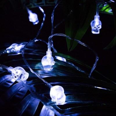 2-Pack Halloween Skull String Lights $7.50 w/code