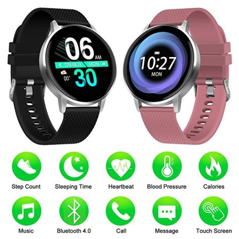 Smartwatch for Men Women Kids Compatible Android iOS for $19.99 w/code