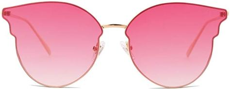 Fashion Cateye Women Sunglasses Mirrored Lens Stainless Steel Frame for just $5.10 w/code