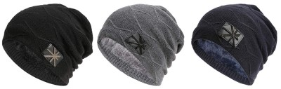Winter Beanie Hats Knitting Thick Slouchy Skull Cap for Men Women for $4.99 w/code