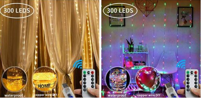 Amazon : 300 LED Window Curtain String Light Just $15 W/Code (Reg : $49.99) (As of 11/18/2019 10.30 AM CST)